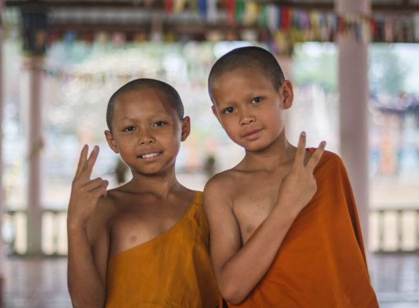 young laotian monks
